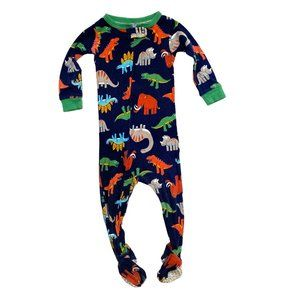 Carter's Happy Dino Print Cotton Footed PJ's